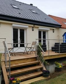 Terrasse en bois exotique sur la commune de Merlimont Plage