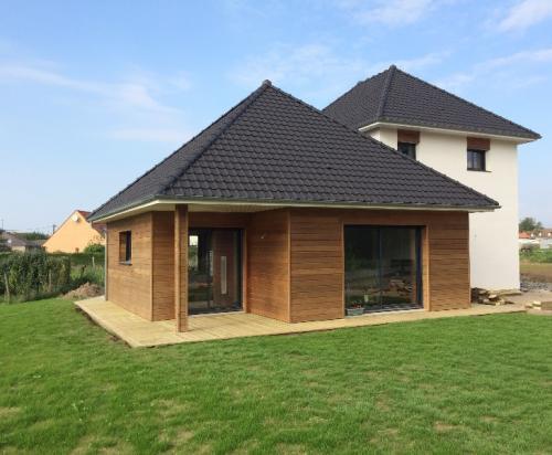 Maison bois sur Waben.